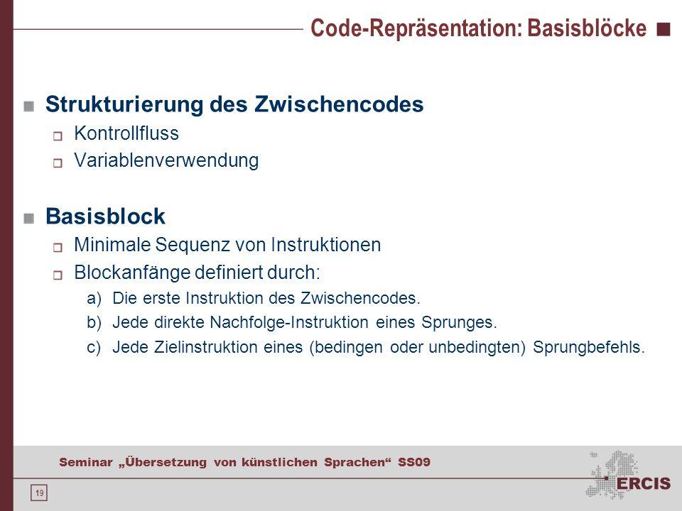 Code-Repräsentation: Basisblöcke