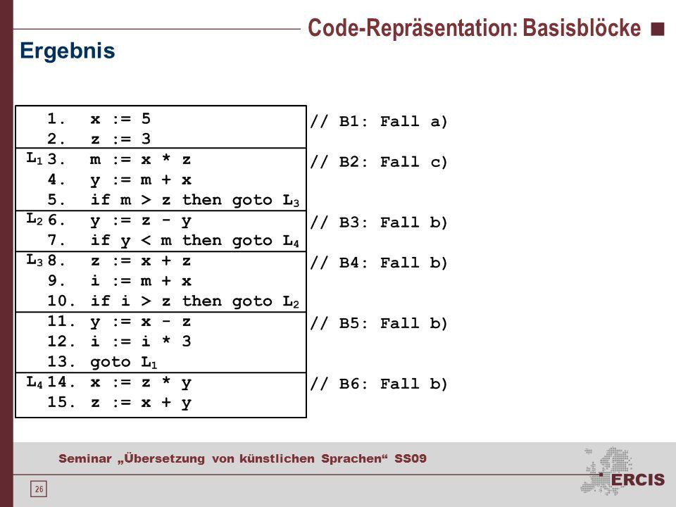Code-Repräsentation: Flussgraphen
