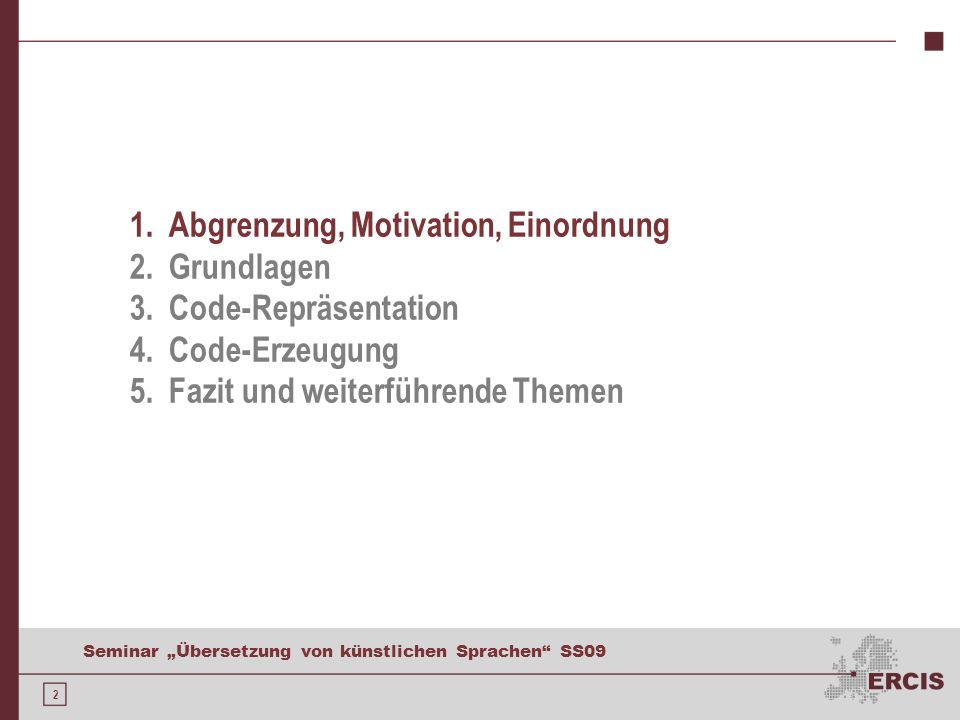 Abgrenzung und Motivation
