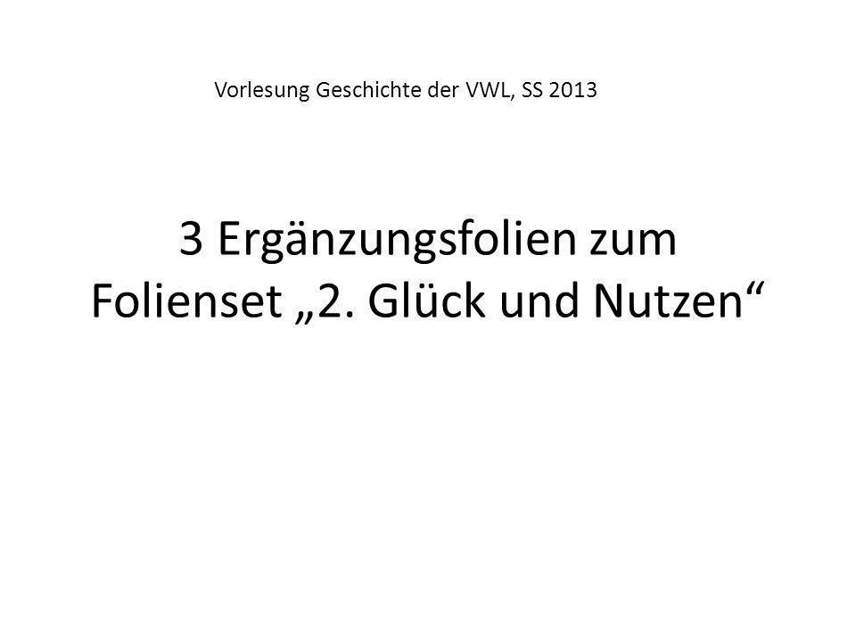 """3 Ergänzungsfolien zum Folienset """"2. Glück und Nutzen"""