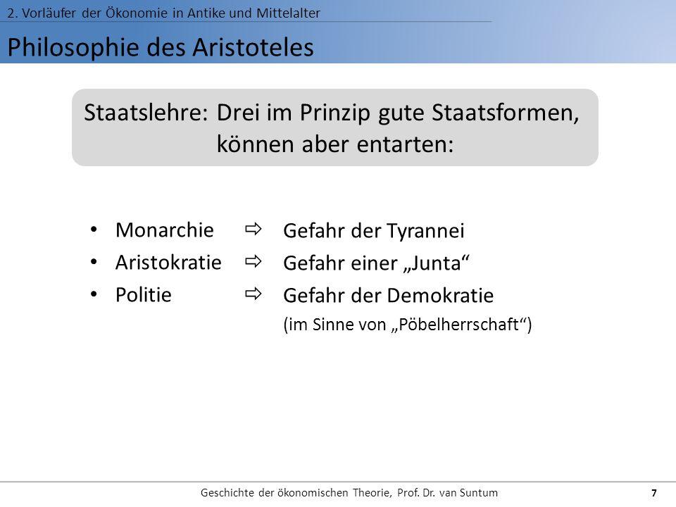 Philosophie des Aristoteles