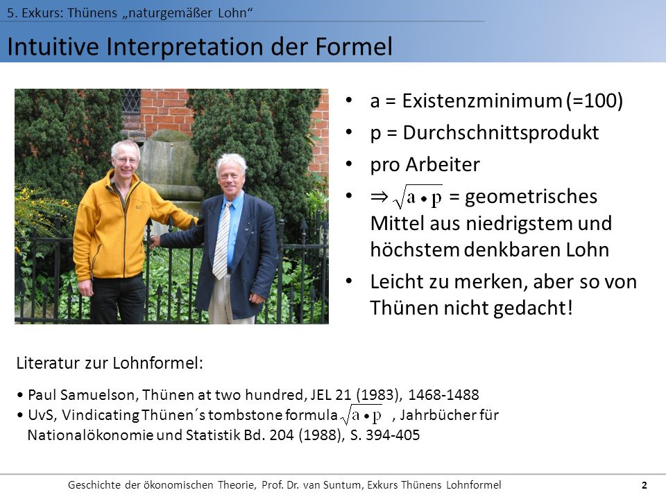 Intuitive Interpretation der Formel