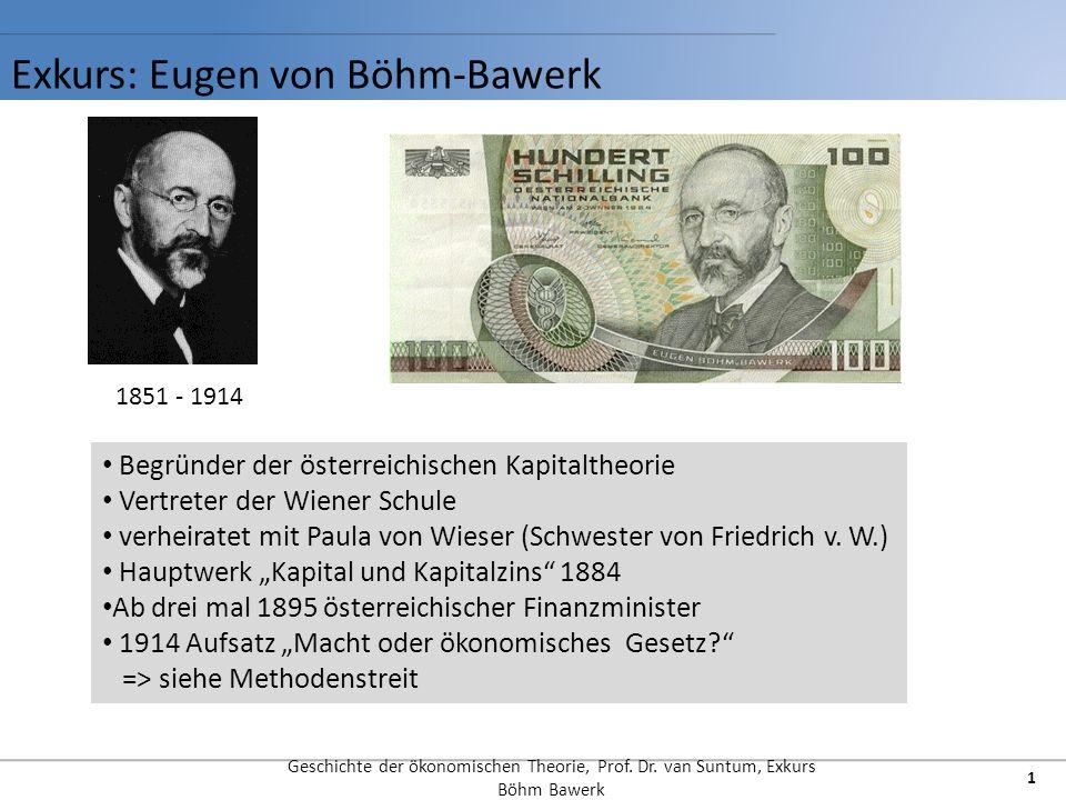 Exkurs: Eugen von Böhm-Bawerk