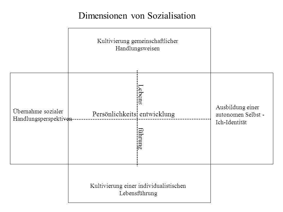 Dimensionen von Sozialisation
