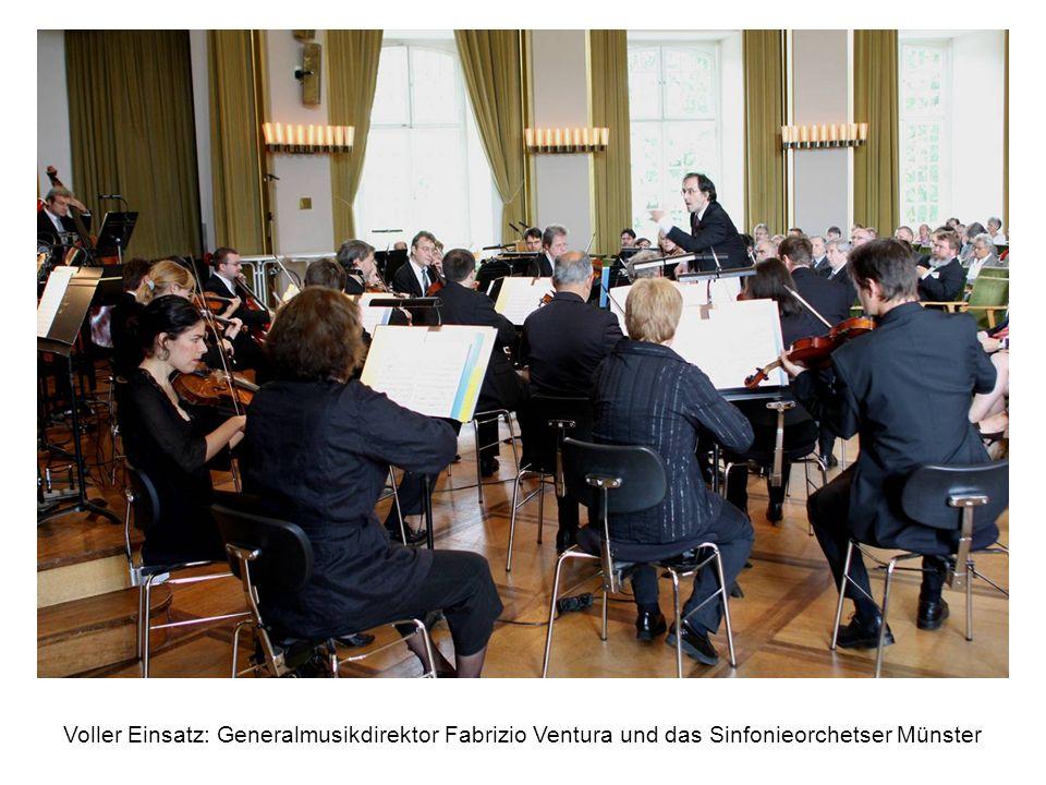 Voller Einsatz: Generalmusikdirektor Fabrizio Ventura und das Sinfonieorchetser Münster