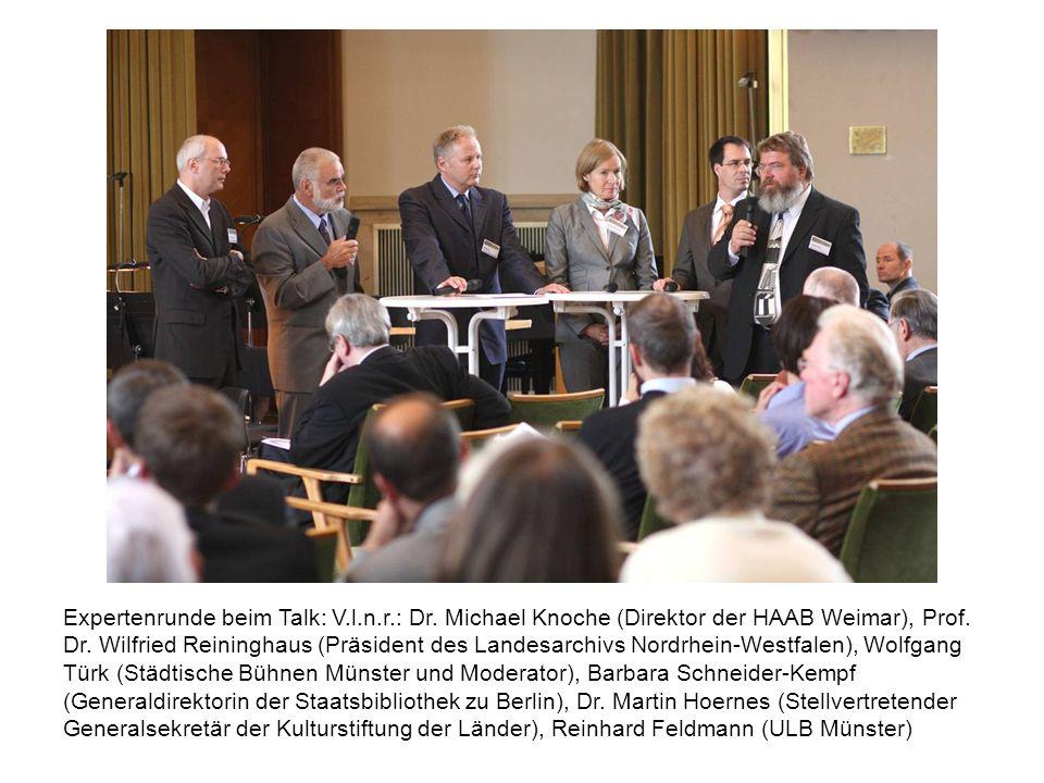 Expertenrunde beim Talk: V. l. n. r. : Dr
