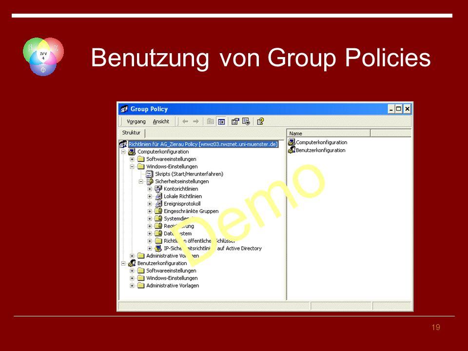 Benutzung von Group Policies