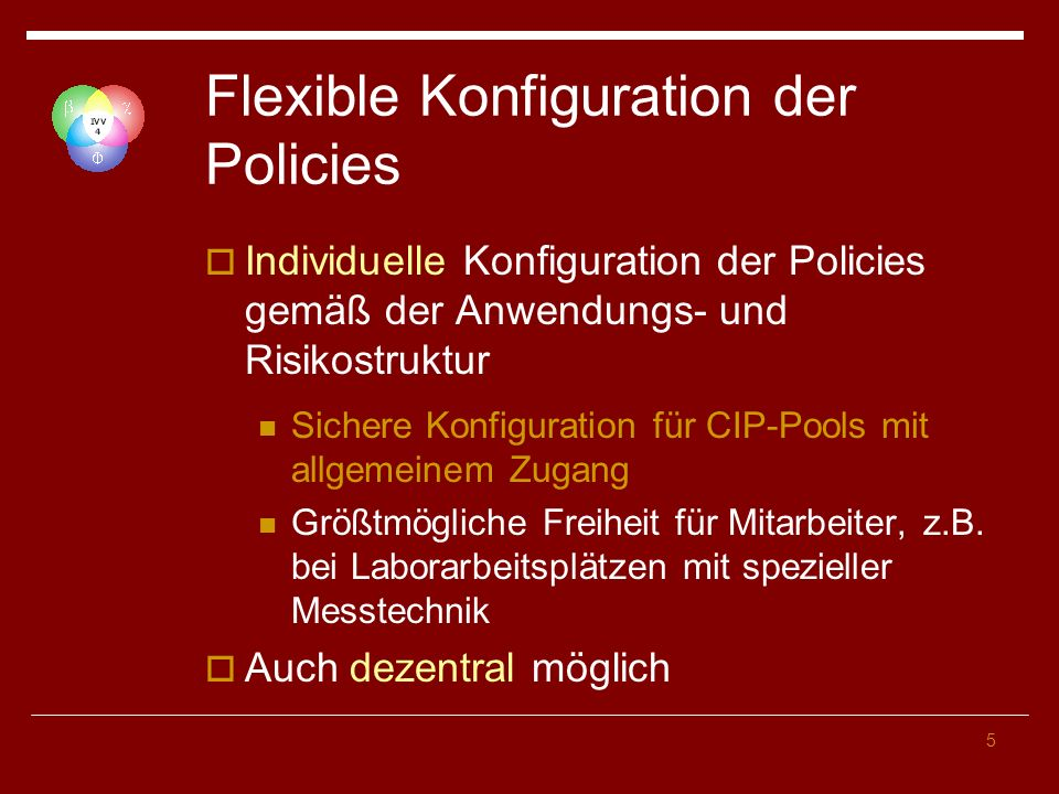 Flexible Konfiguration der Policies