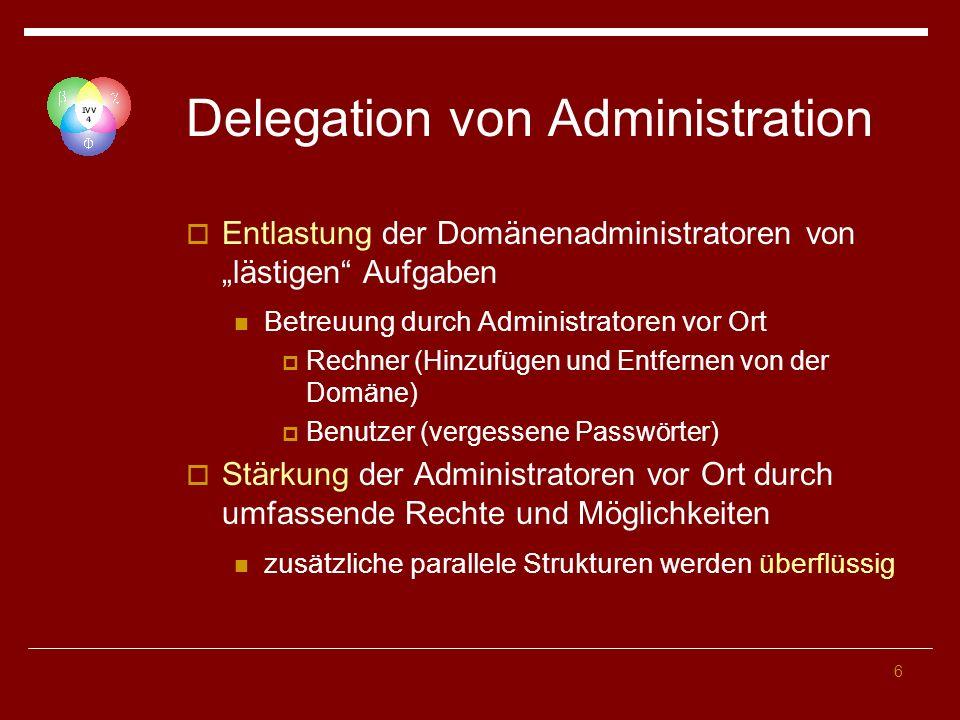 Delegation von Administration