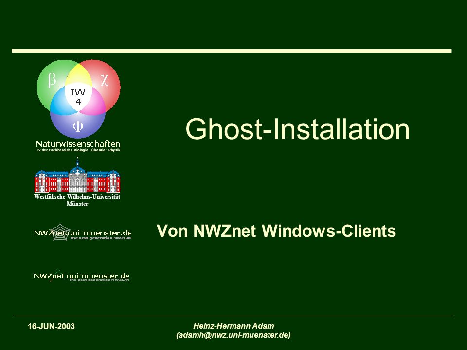 Von NWZnet Windows-Clients