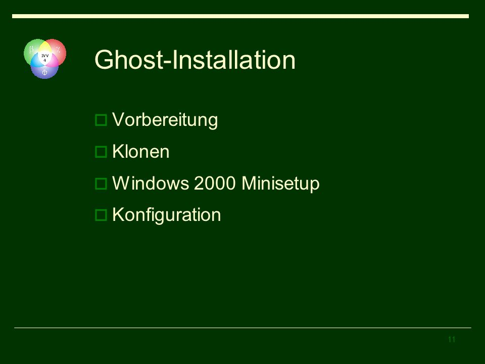 Ghost-Installation Vorbereitung Klonen Windows 2000 Minisetup