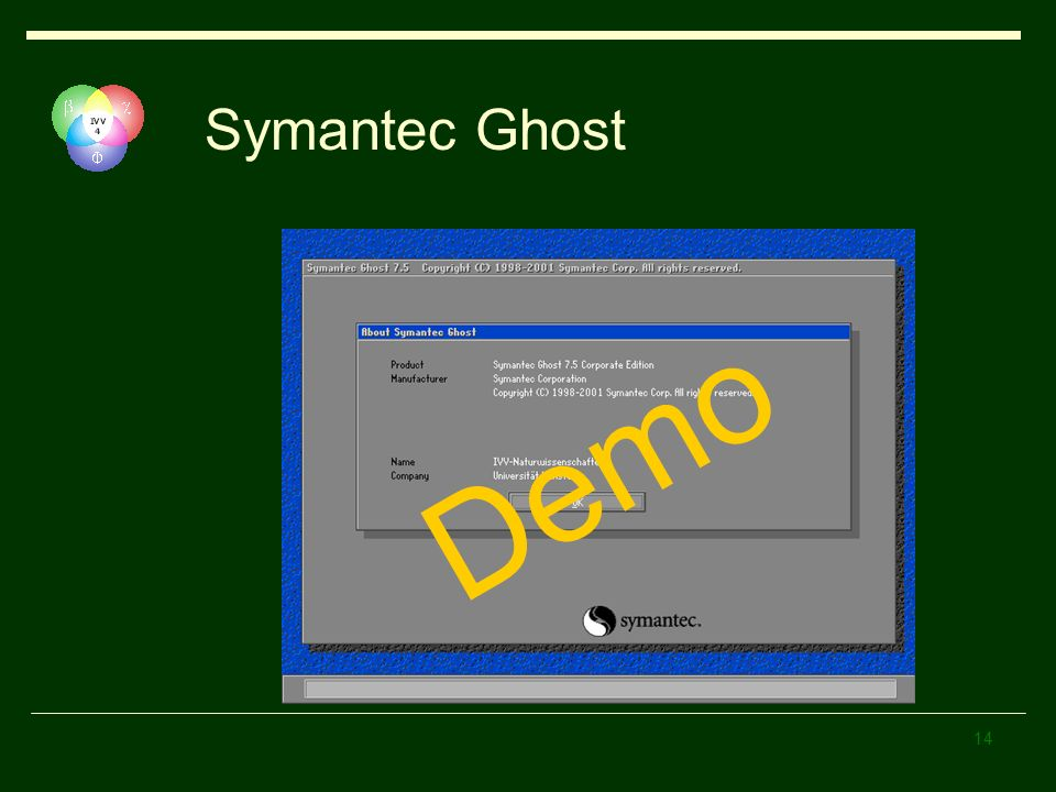 Symantec Ghost Demo