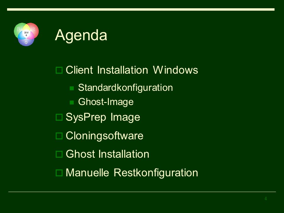 Agenda Client Installation Windows SysPrep Image Cloningsoftware