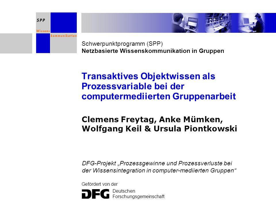 Clemens Freytag, Anke Mümken, Wolfgang Keil & Ursula Piontkowski