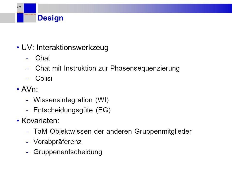 UV: Interaktionswerkzeug