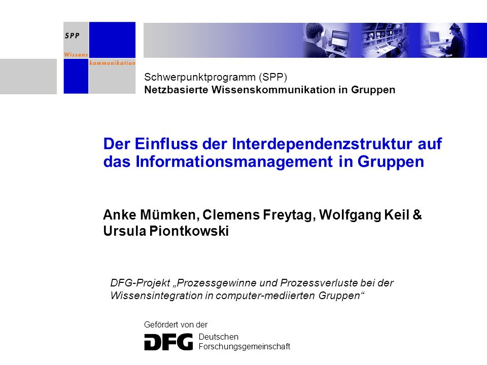 Anke Mümken, Clemens Freytag, Wolfgang Keil & Ursula Piontkowski