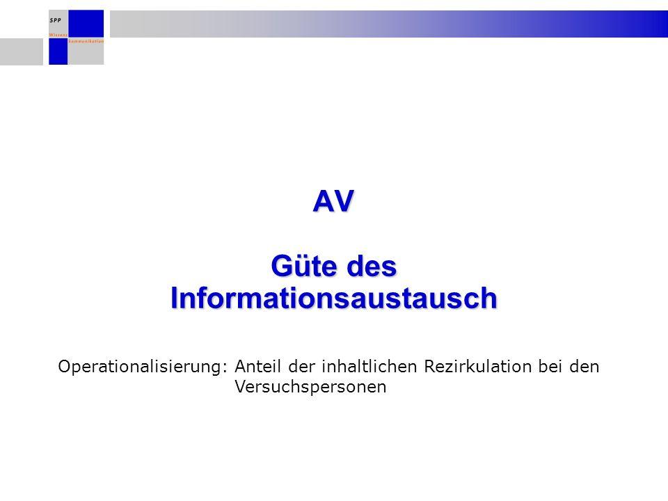 AV Güte des Informationsaustausch