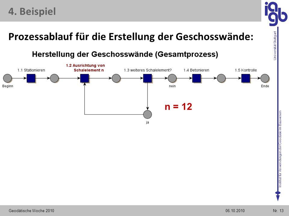 Prozessablauf für die Erstellung der Geschosswände: