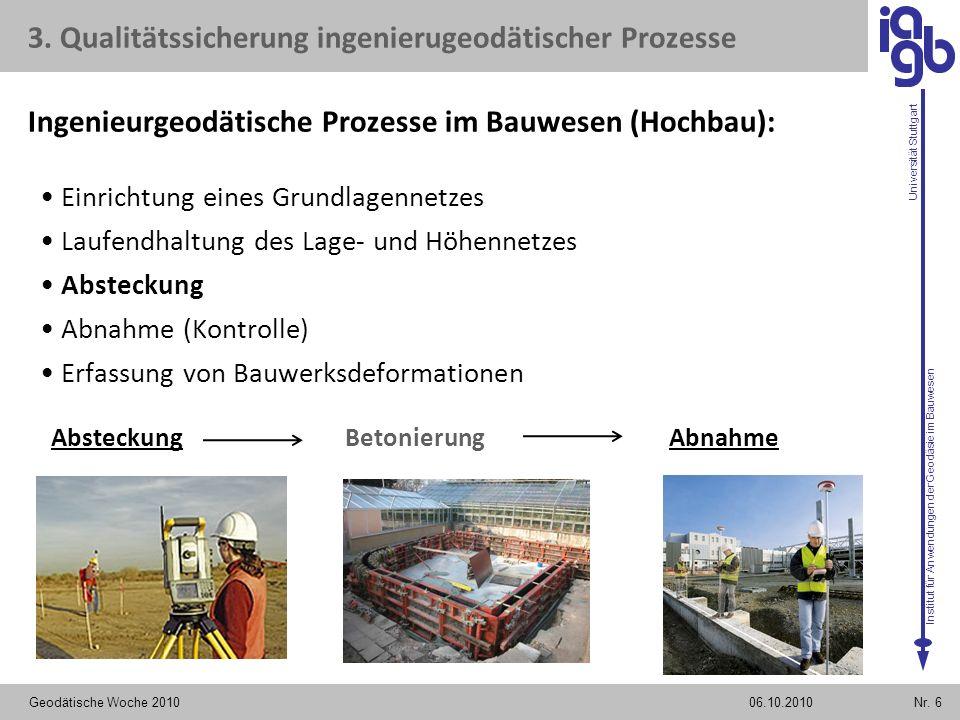 Ingenieurgeodätische Prozesse im Bauwesen (Hochbau):