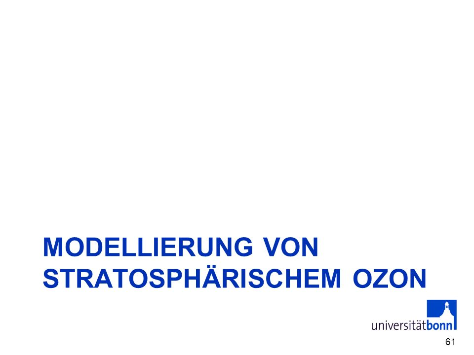 Modellierung von stratosphärischem Ozon