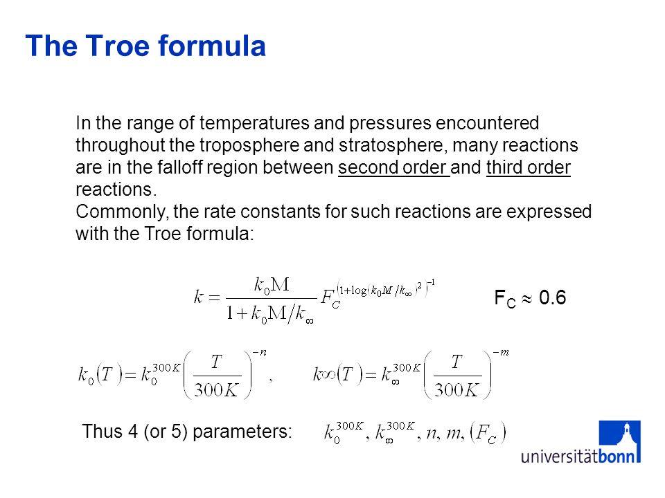 The Troe formula