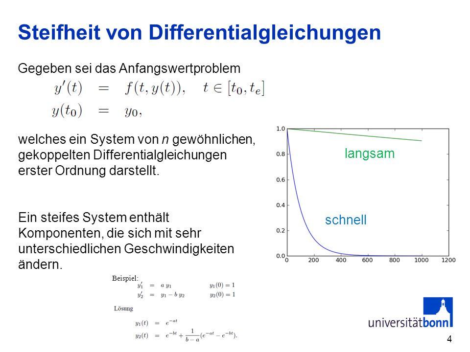 Steifheit von Differentialgleichungen