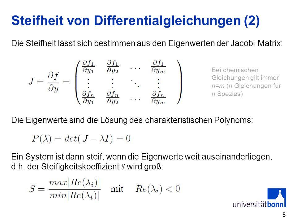 Steifheit von Differentialgleichungen (2)