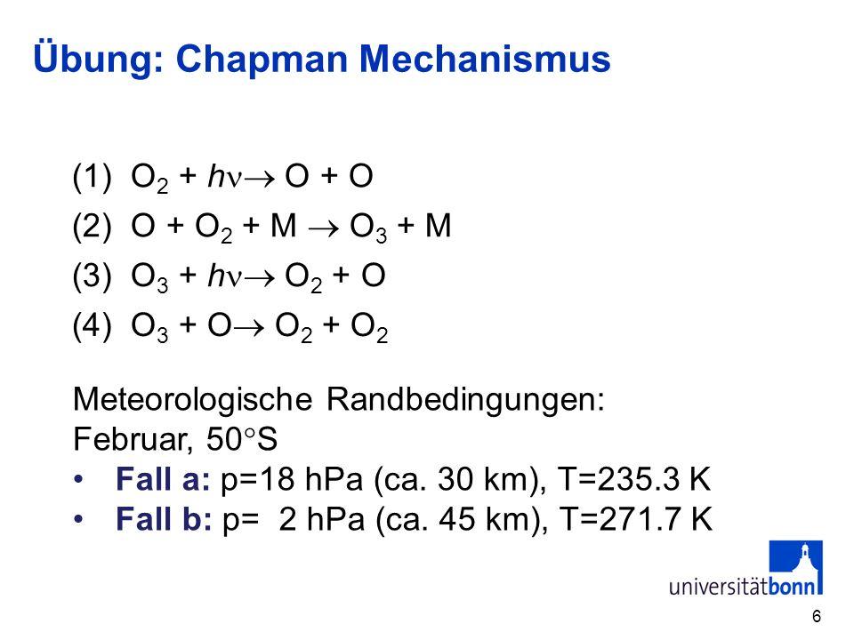 Übung: Chapman Mechanismus