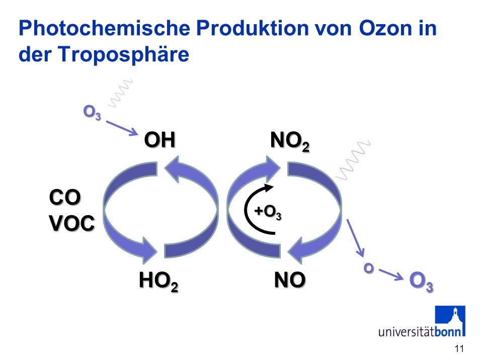 Photochemische Produktion von Ozon in der Troposphäre