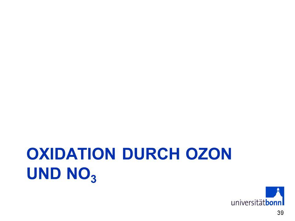 Oxidation durch Ozon und NO3