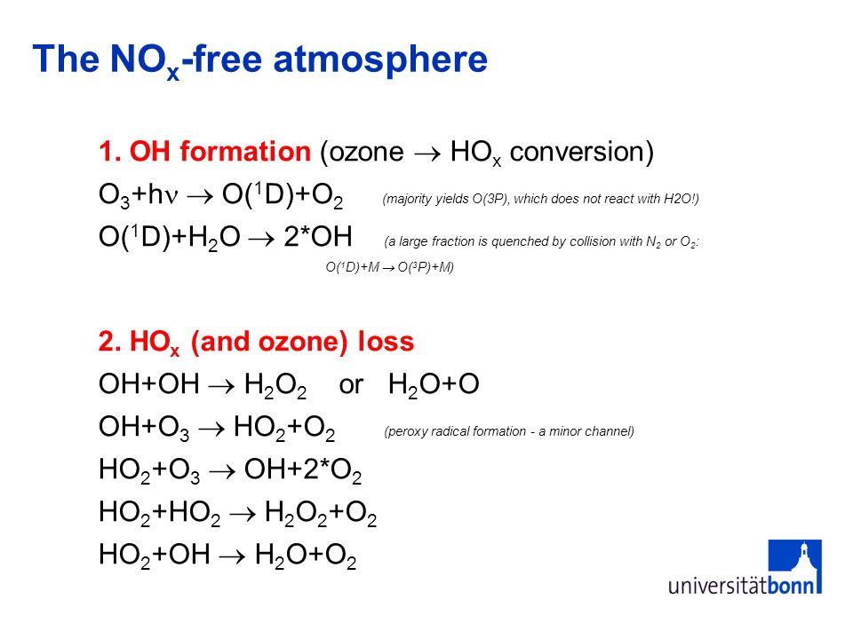The NOx-free atmosphere