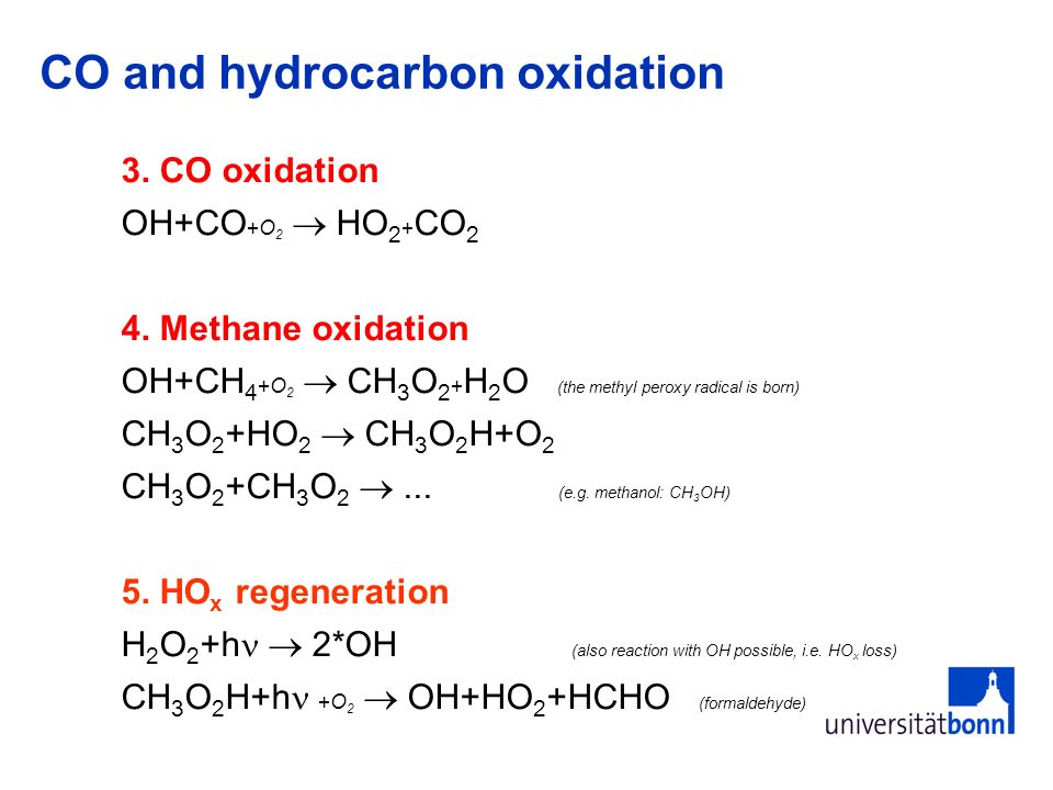 CO and hydrocarbon oxidation