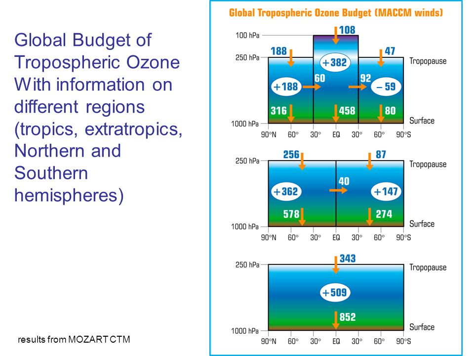 Global Budget of Tropospheric Ozone