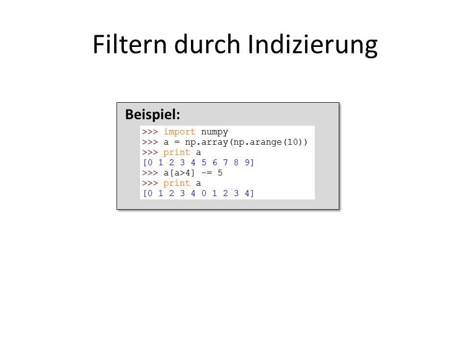Filtern durch Indizierung
