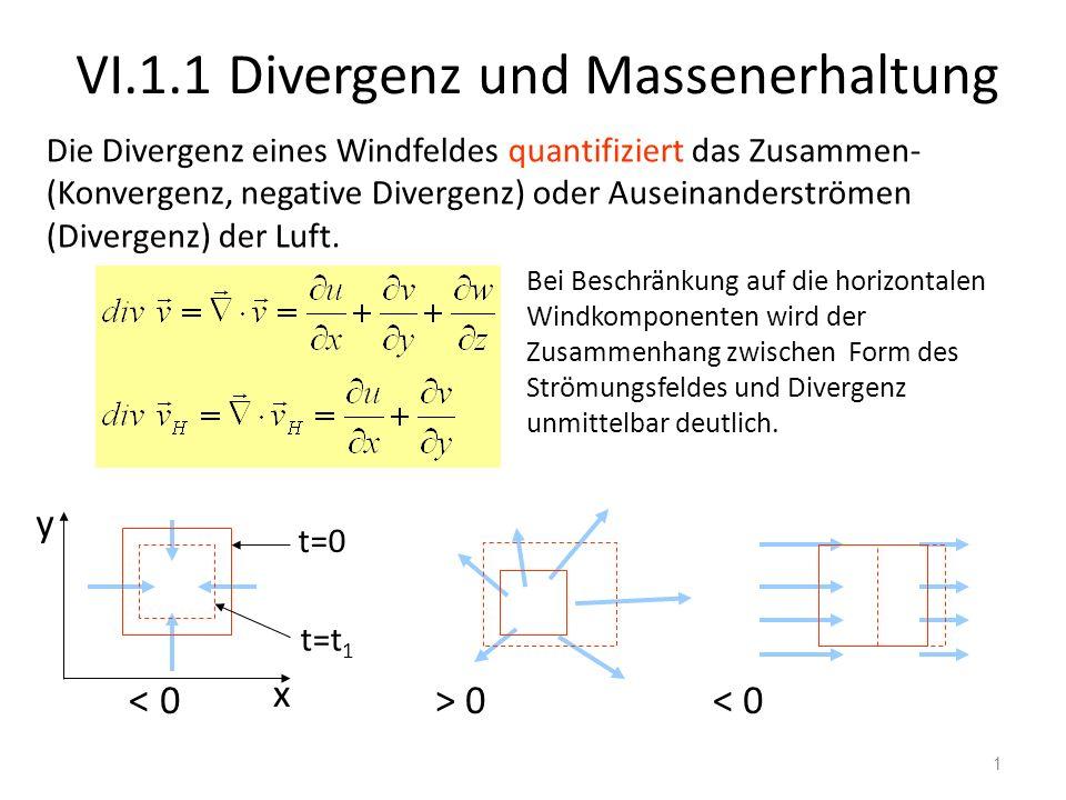 VI.1.1 Divergenz und Massenerhaltung