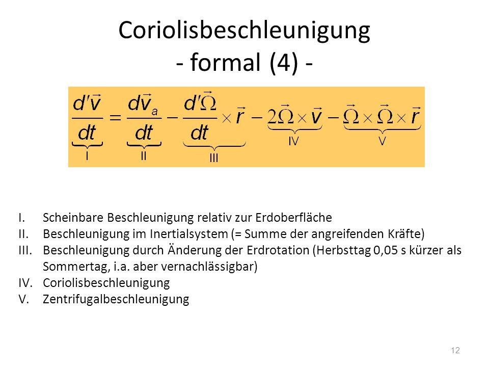 Coriolisbeschleunigung - formal (4) -