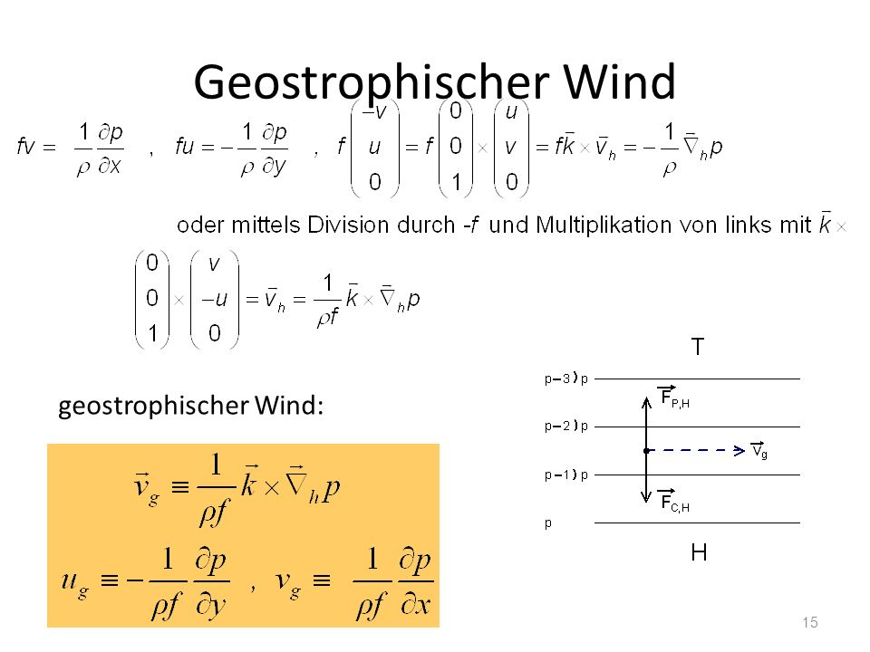 Geostrophischer Wind geostrophischer Wind: