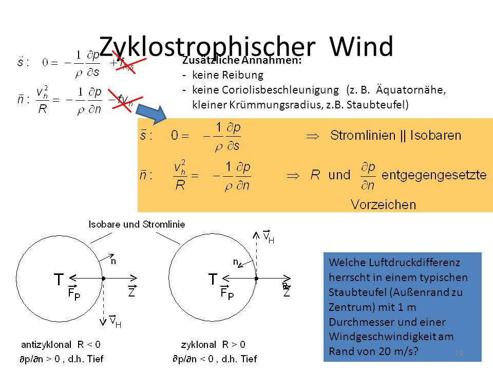 Zyklostrophischer Wind