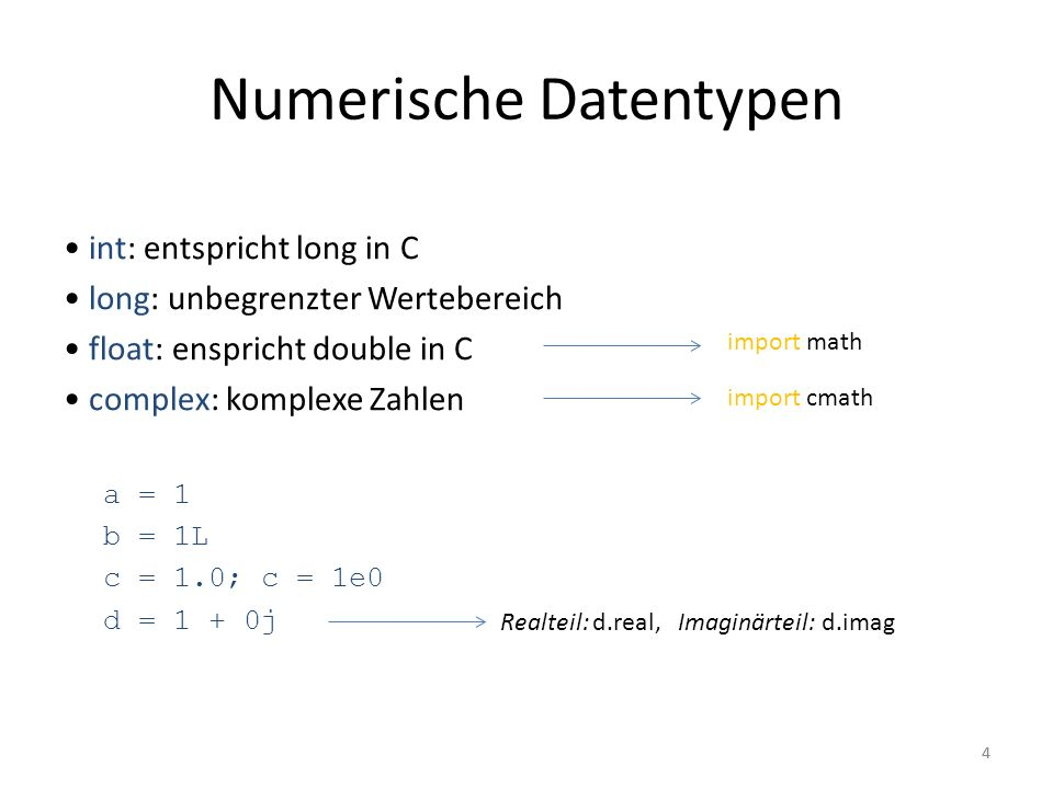 Numerische Datentypen