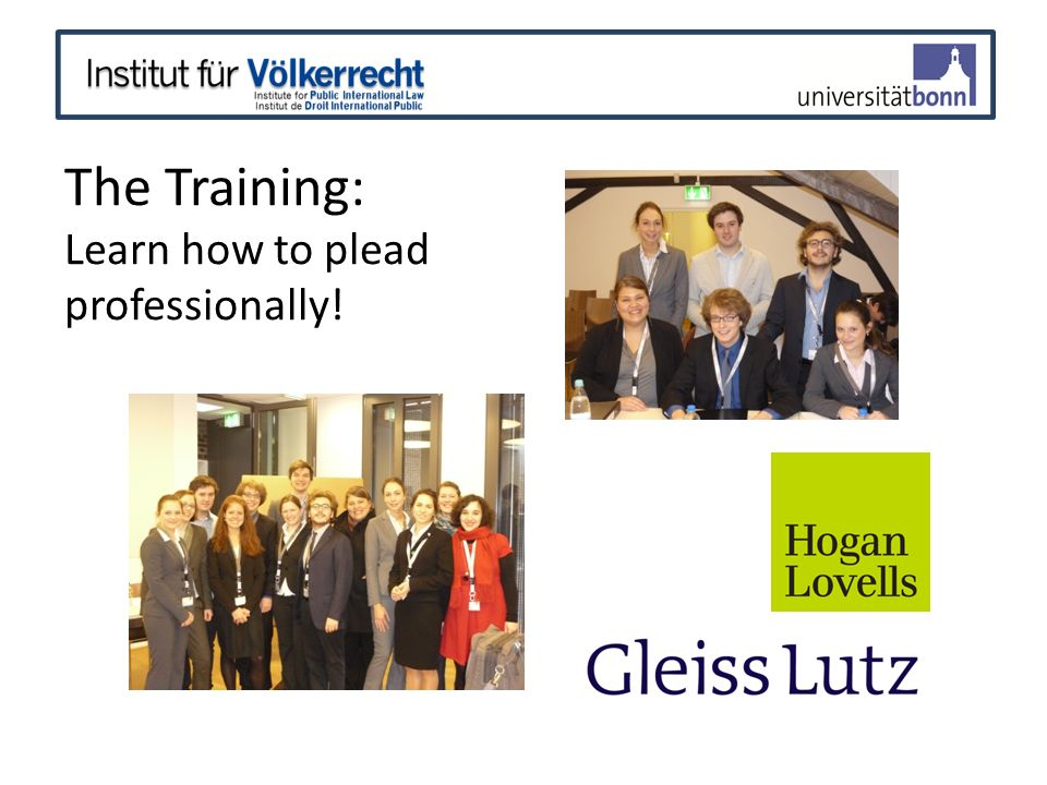 The Training: Learn how to plead professionally!