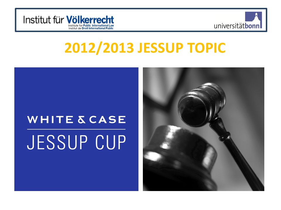 2012/2013 Jessup Topic