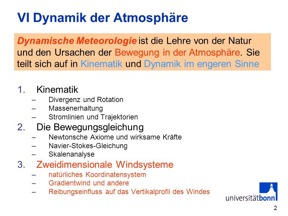 VI Dynamik der Atmosphäre