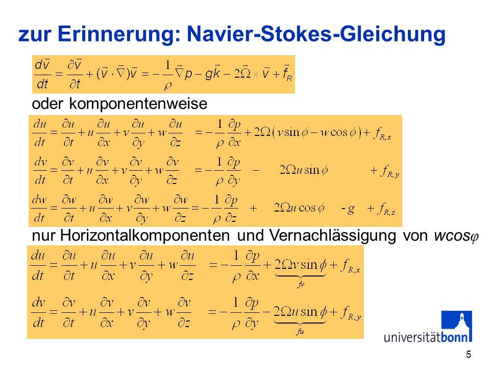 zur Erinnerung: Navier-Stokes-Gleichung