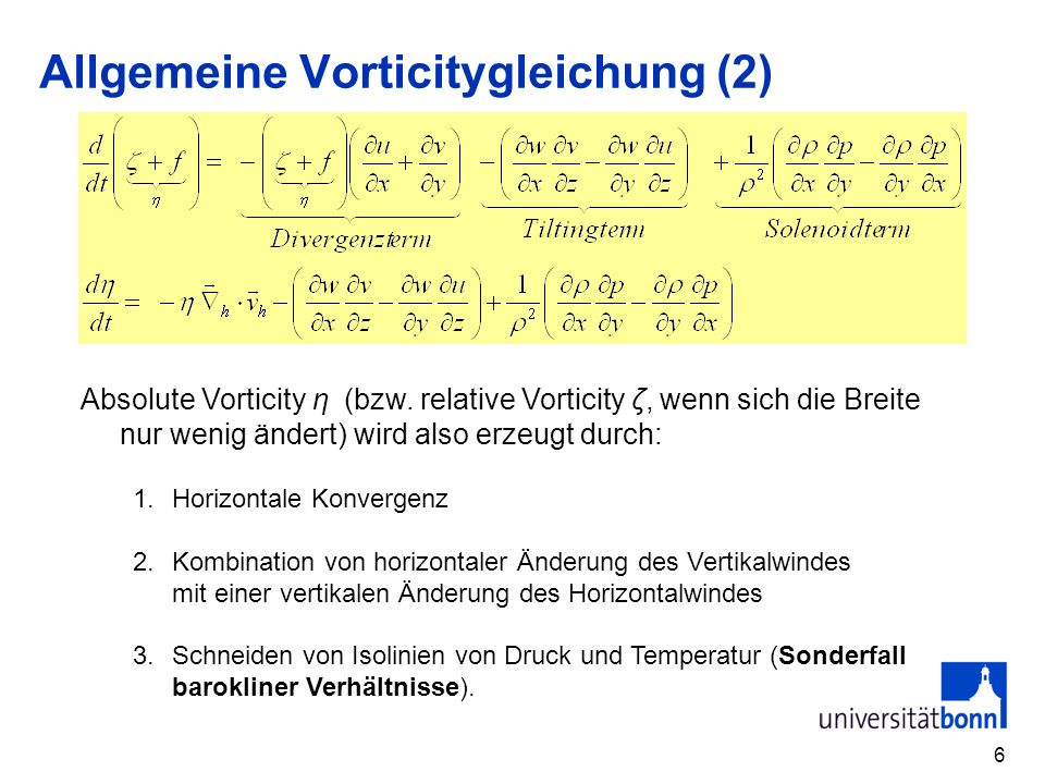 Allgemeine Vorticitygleichung (2)