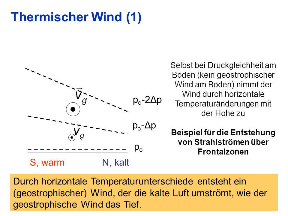 Beispiel für die Entstehung von Strahlströmen über Frontalzonen
