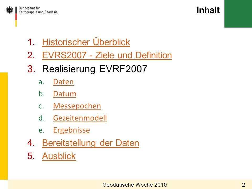 Realisierung EVRF2007 Inhalt Historischer Überblick