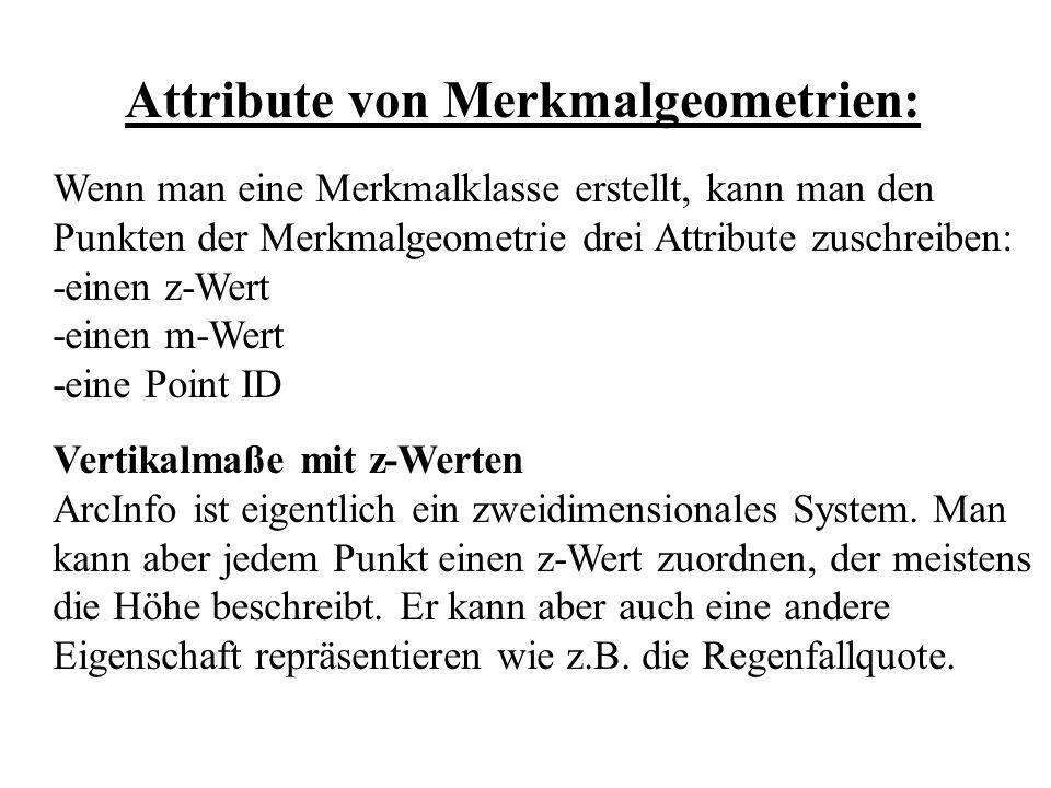 Attribute von Merkmalgeometrien: