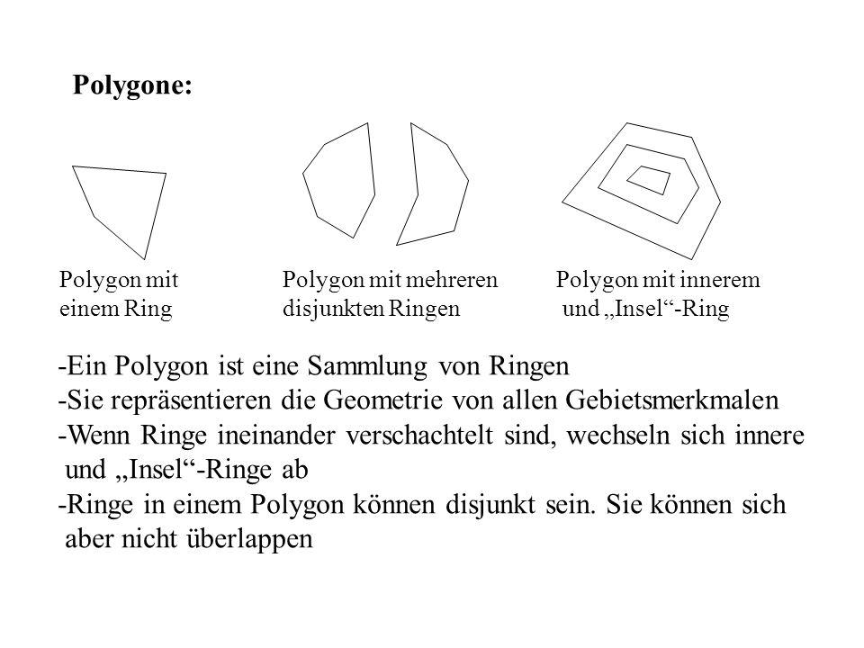 -Ein Polygon ist eine Sammlung von Ringen