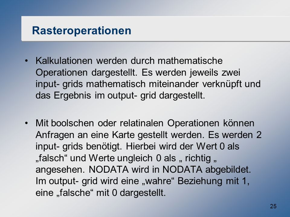 Rasteroperationen