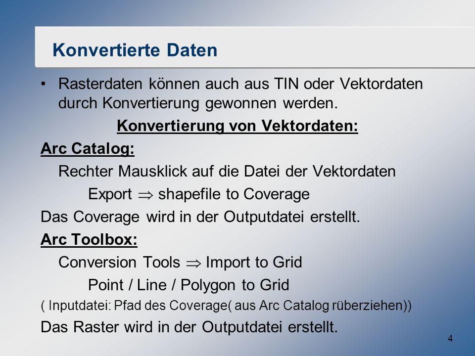 Konvertierung von Vektordaten: